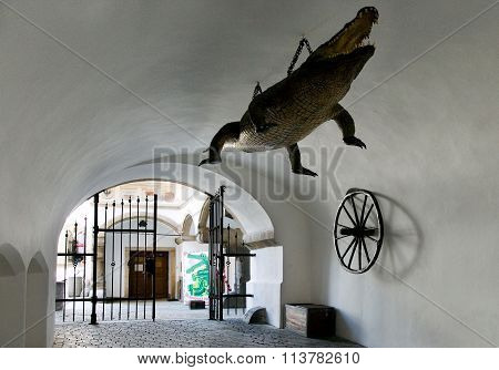 Dragon - Symbol Of The City, Old Town Hall, Town Brno, Moravia, Czech Republic, Europe
