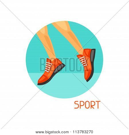 Sports and healthy lifestyle concept. Image can be used on advertising booklets, banners, flayers