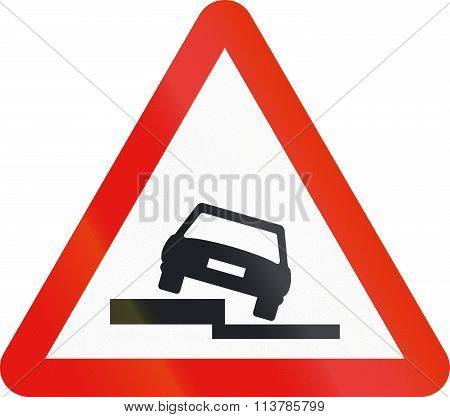 Road Sign Used In Spain - Uneven Road