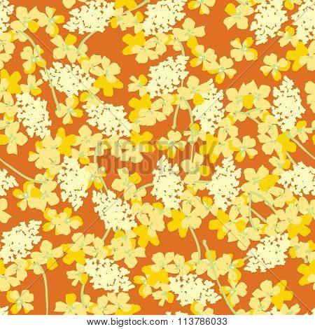 Pattern With Yellow Orange Flowers