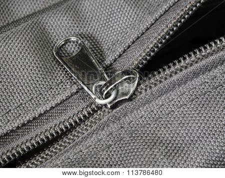 Damage Zip On Black Cloth Bag
