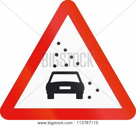 Road Sign Used In Spain - Reduced Visibility