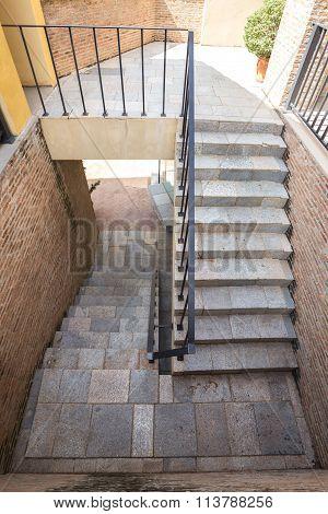 Italian Brick Stairway And Handrail