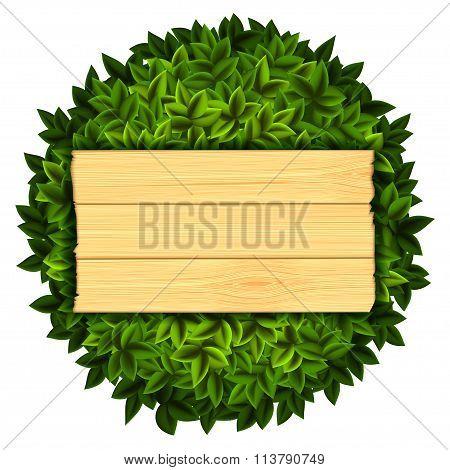Wooden Board. Stock Illustration.