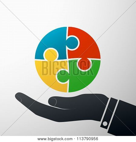 Puzzle Pieces. Stock Illustration.