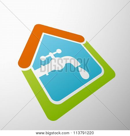 Tap Water. Stock Illustration.