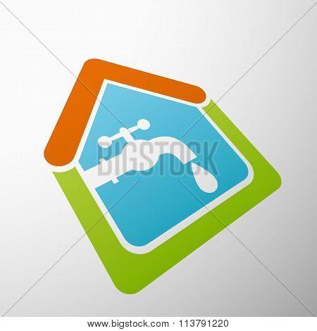 Tap Water. Stock Illustration.