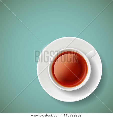 Red Tea. Stock Illustration.
