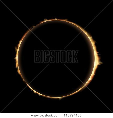 Eclipse. Stock Illustration.