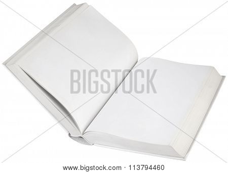 Open White Hard Book Empty Page