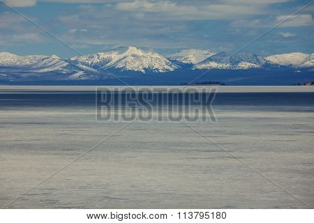 Yellowstone Lake in Yellowstone National Park