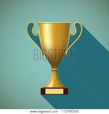 Sport Cup. Stock Illustration.