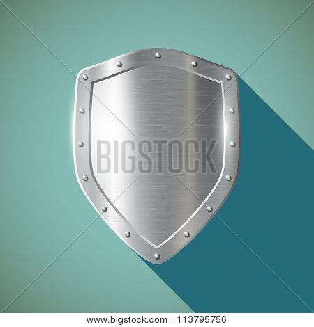 Metal Shield. Stock Illustration.