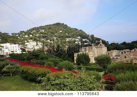 Augustus Gardens Of Capri Island, Italy