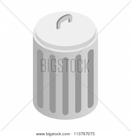 Urn with lid isometric 3d icon