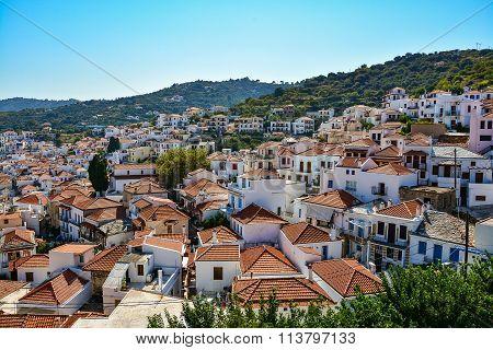 Skopelos town, Greece