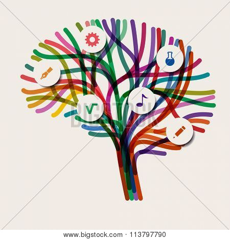 Abstract concept of the brain, eps10 vector