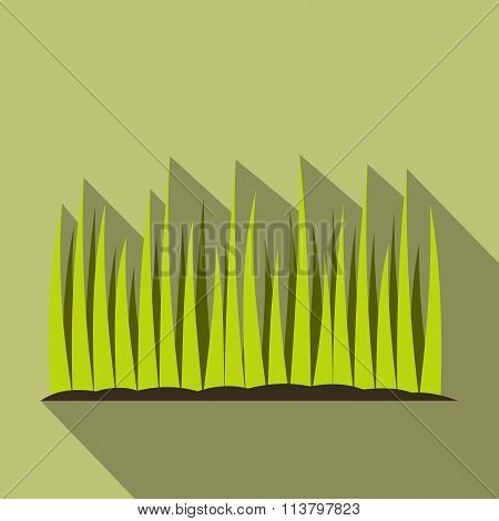 Growing grass flat icon