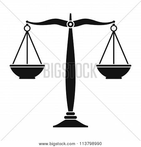 Justice scales black icon