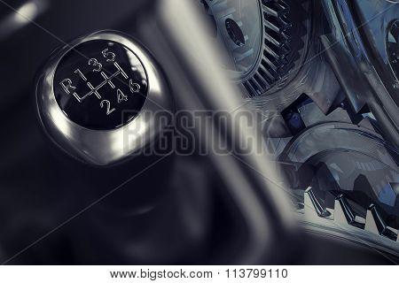 6 speed gearstick, double exposure