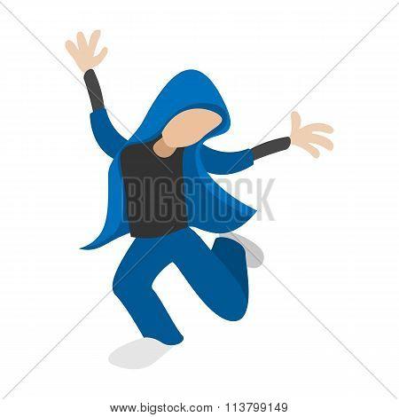 Hip hop dancer cartoon icon