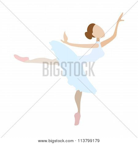 Ballerina girl dancing cartoon icon