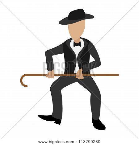 Tap dancer cartoon illustration