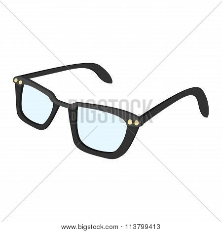 Male glasses cartoon icon