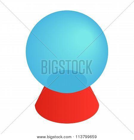 Magic ball isometric 3d icon