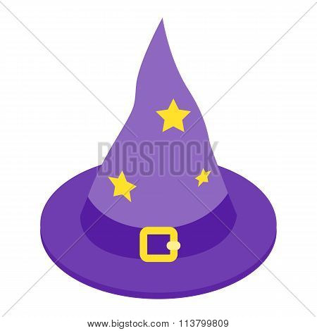 Witch hat isometric 3d icon