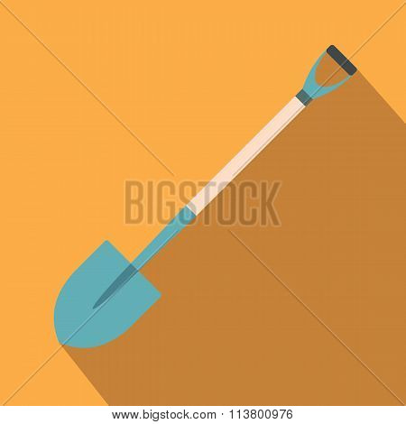 Shovel for working in the garden