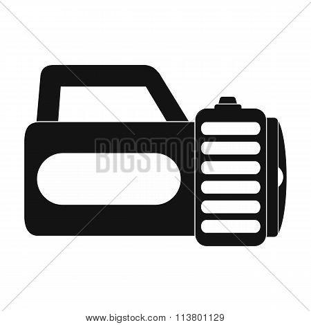 Flashlight black simple icon