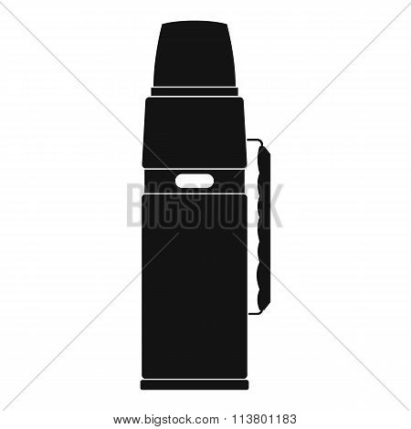 Thermos flask black simple icon