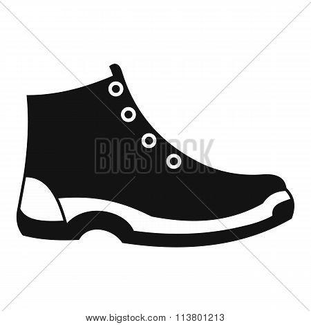 Tourist shoes black simple icon
