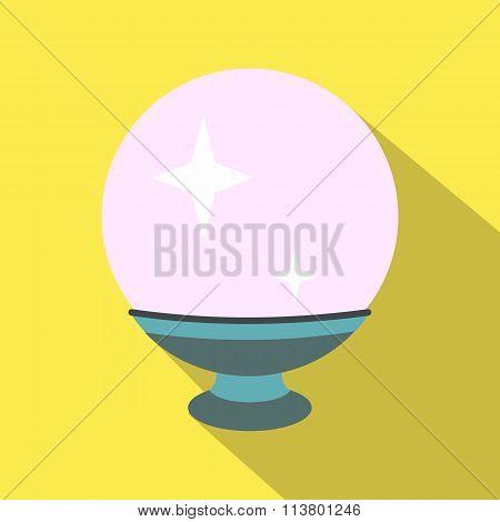Magic ball flat icon