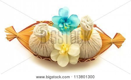 Pouches, Flowers Orchid, A Basket