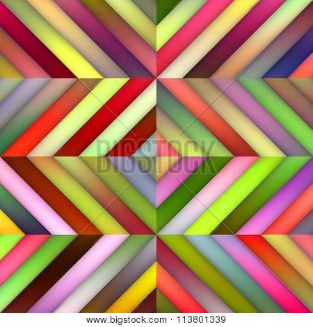 Vector Seamless Multicolor Shades Gradient Diagonal Stripes Tiles Geometric Pattern