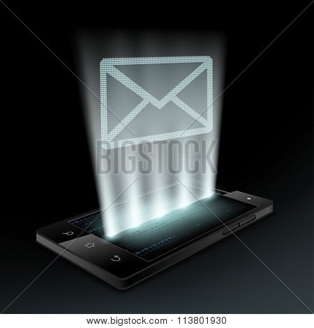 Smartphone. Stock Vector Illustration.