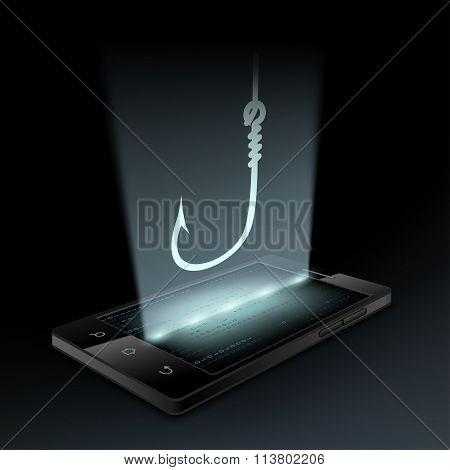 Fishhook On The Smartphone