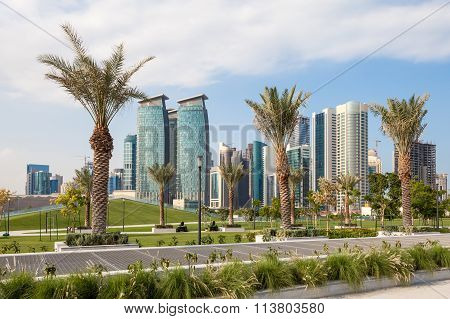 Park In The City Of Doha, Qatar