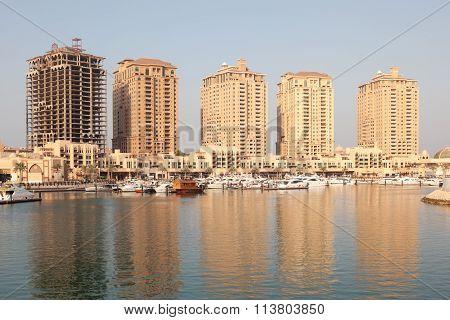 Apartment Buildings In Porto Arabia, Qatar