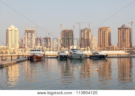 Marina In Porto Arabia, Qatar