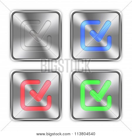 Color Checkmark Steel Buttons