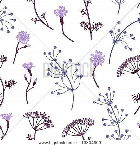 Seamless Pattern With Herbs.