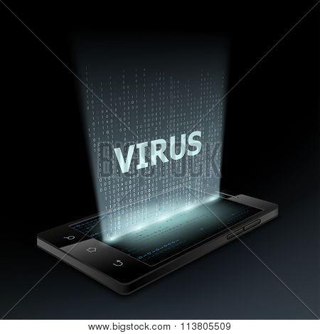 Virus Icon. Hologram.