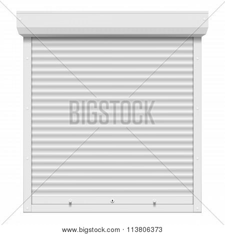 Shutters Isolated On White Background.