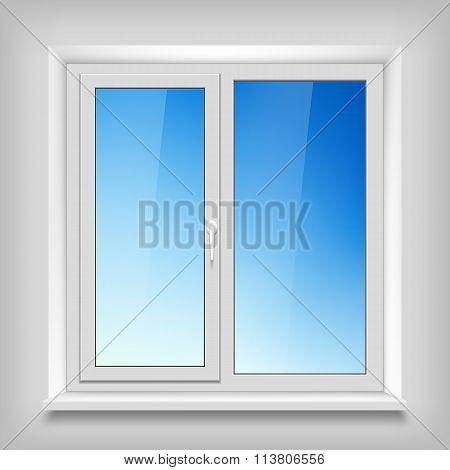 Plastic White Window.