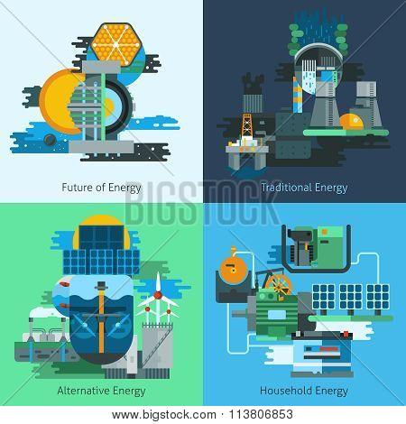 Energy production flat set