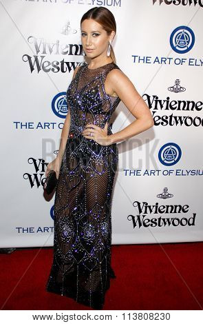 Ashley Tisdale at the Art Of Elysium's 9th Annual Heaven Gala held at the 3LABS in Culver City, USA on January 9, 2016.