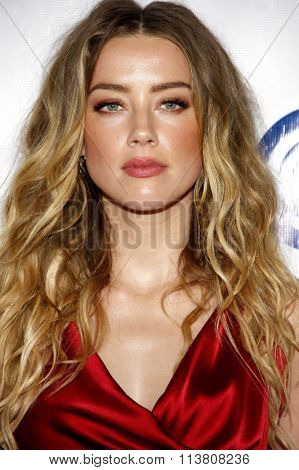 Amber Heard at the Art Of Elysium's 9th Annual Heaven Gala held at the 3LABS in Culver City, USA on January 9, 2016.